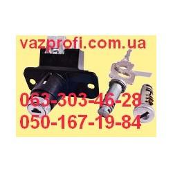 Замок багажника ВАЗ 21099 с ключами и личинками дверей, хром черный