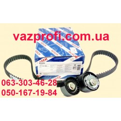 Ремень ГРМ комплект с роликами ВАЗ 2170 Приора, 11194 Калина 16 кл. BOSCH