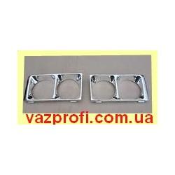 Облицовка фар ВАЗ 2106 металлизированная, очки